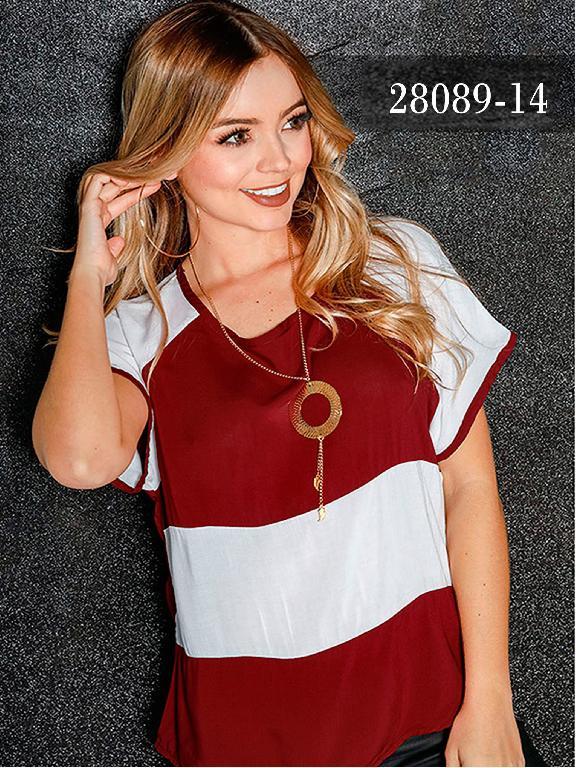 Blusas Colombianas Dinasty - Ref. 266 -28089-14 Vino Tinto