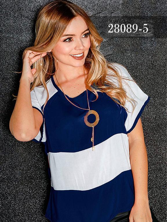 Blusas Colombianas Dinastyq - Ref. 266 -28089-5 Azul