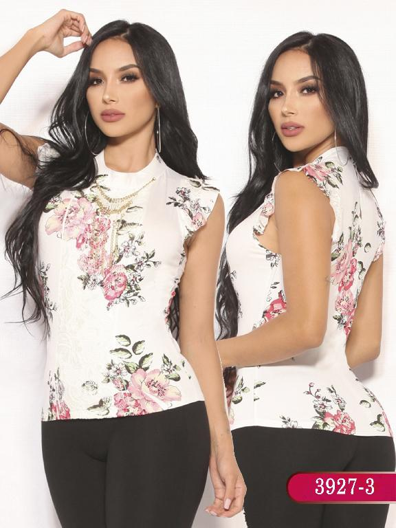 Blusa Moda Colombiana Vikats  - Ref. 252 -3927-3 Roja