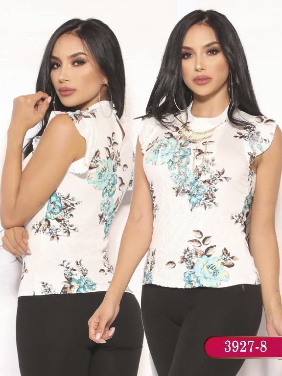 Blusa Moda Colombiana Vikats  - Ref. 252 -3927-8 Verde