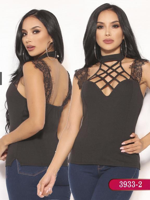 Blusa Moda Colombiana Vikats  - Ref. 252 -3933-2 Negra