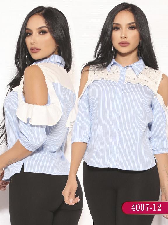 Blusa Moda Colombiana Vikats  - Ref. 252 -4007-12 Azul Claro