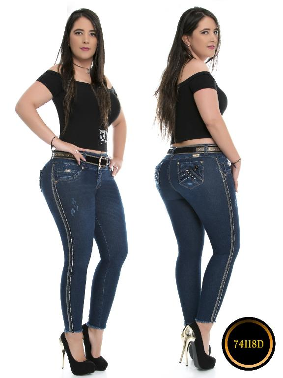 Jeans Levantacola Colombiano DO - Ref. 248 -74118-D