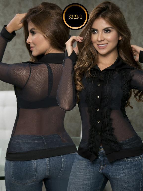 Blusa Moda Colombiana Thaxx  - Ref. 119 -3321-1 Negro