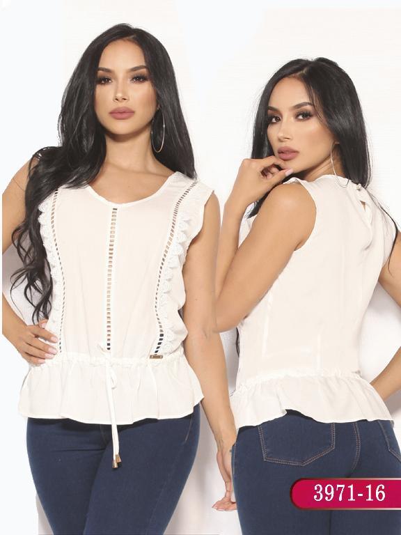 Blusa Moda Colombiana Vikats  - Ref. 252 -3971-16 Beige