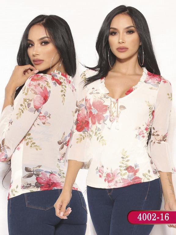 Blusa Moda Colombiana Vikats  - Ref. 252 -4002-16 Beige