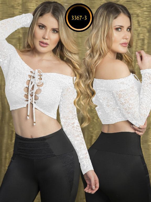 Blusa Moda Colombiana Thaxx  - Ref. 119 -3367-3 Blanco
