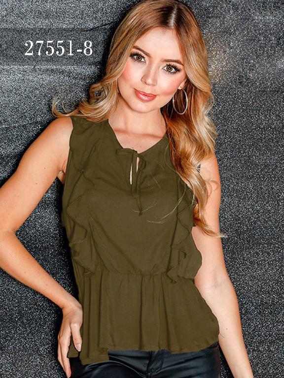 Blusas Colombianas Dinasty - Ref. 266 -27551-8 Verde