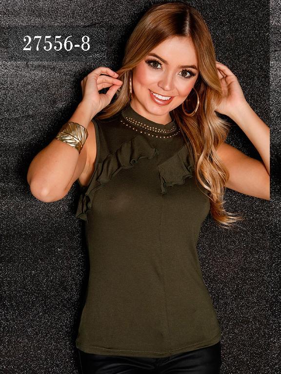 Blusas Colombianas Dinasty - Ref. 266 -27556-8 Verde