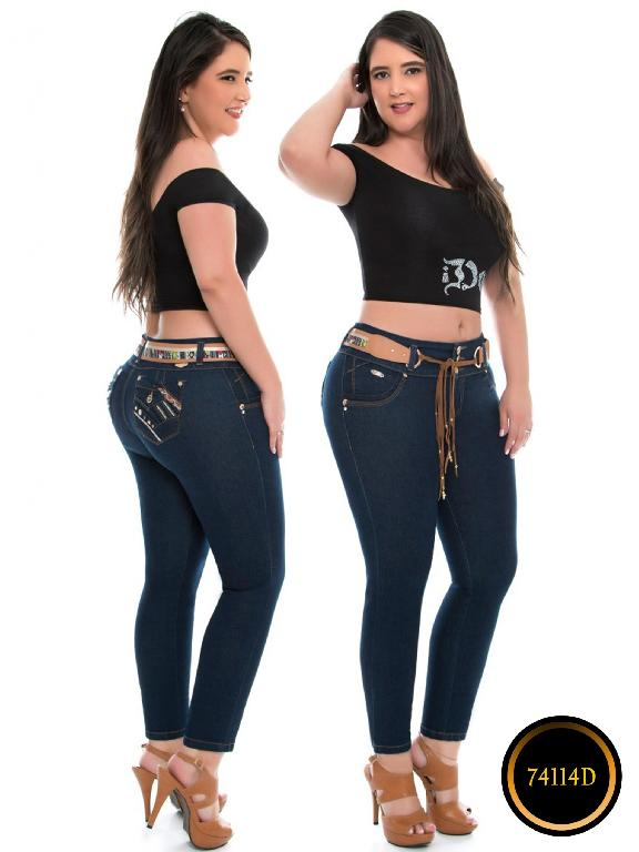 Jeans Levantacola Colombiano DO - Ref. 248 -74114-D
