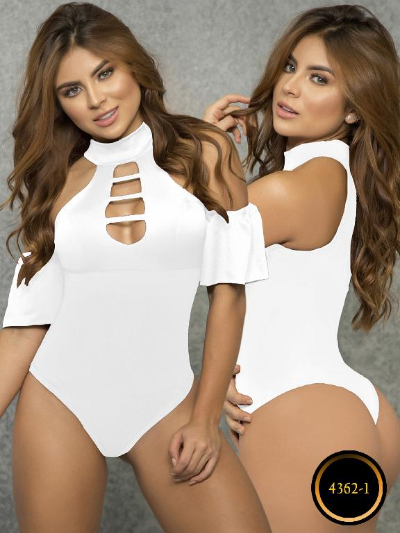 Body Reductor Colombiano Capellini - Ref. 114 -4362-1 Blanco
