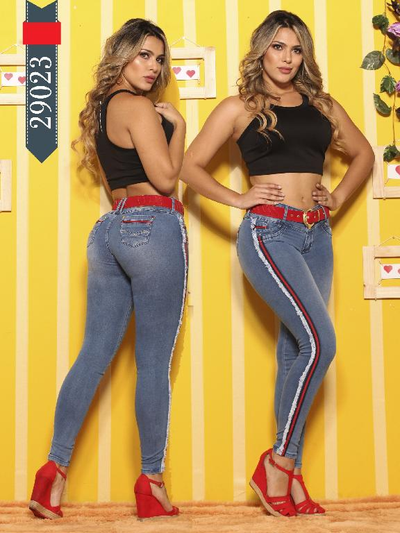Jeans Levantacola Colombianos D-Luxe - Ref. 264 -29023 D-Luxe