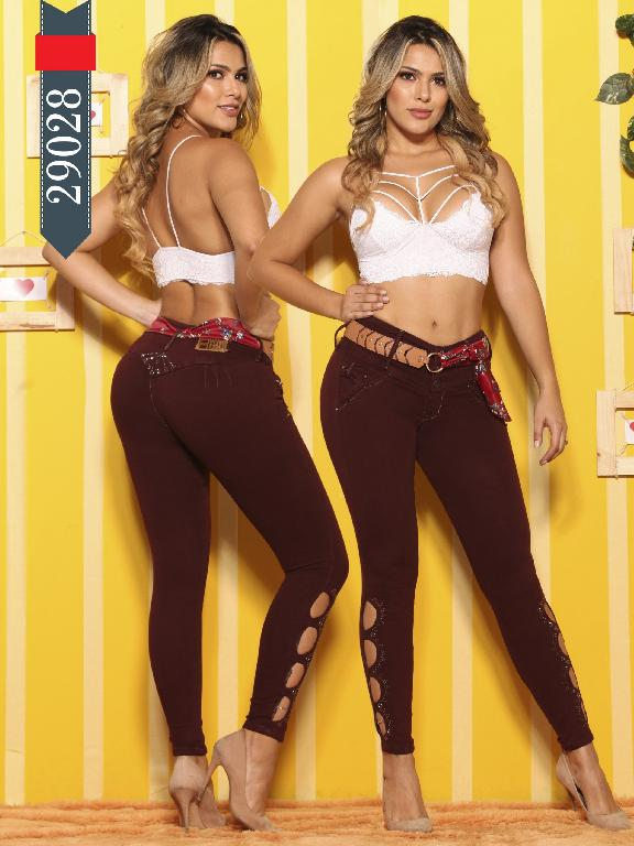Jeans Levantacola Colombianos D-Luxe - Ref. 264 -29028 D-Luxe