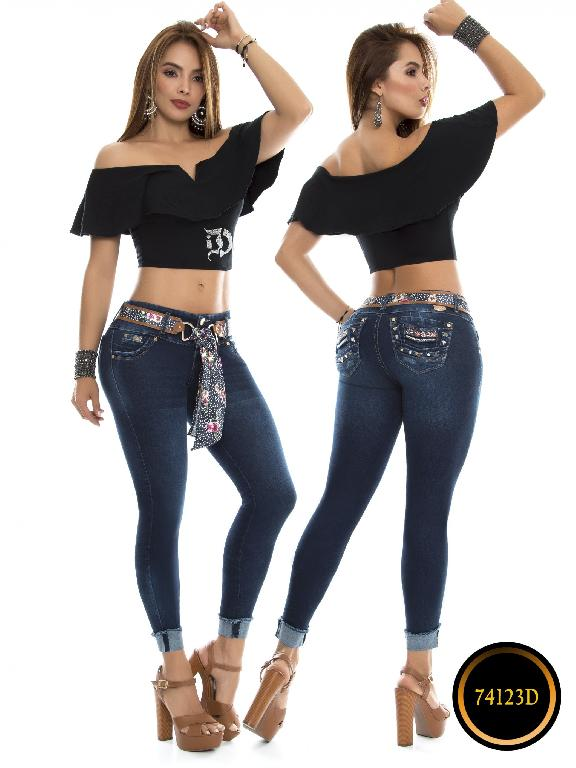 Jeans Levantacola Colombiano DO - Ref. 248 -74123-D