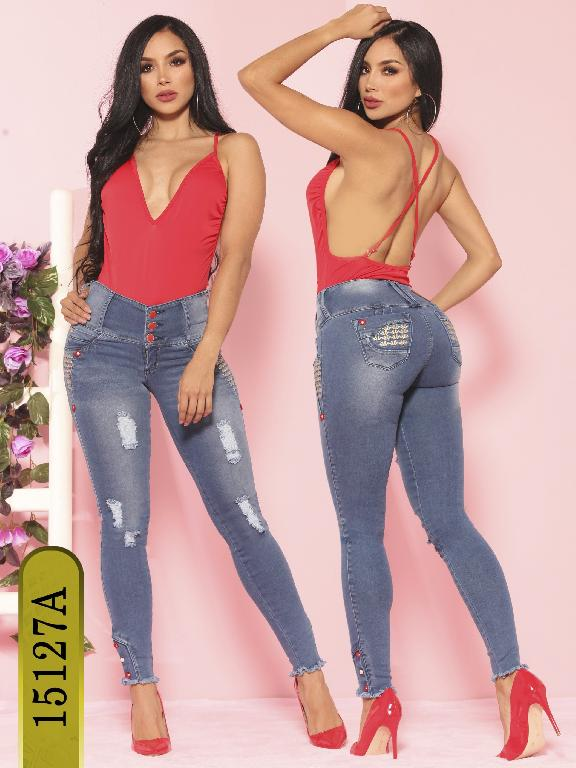 Jeans Levantacola Colombiano Ambar  - Ref. 234 -15127-A