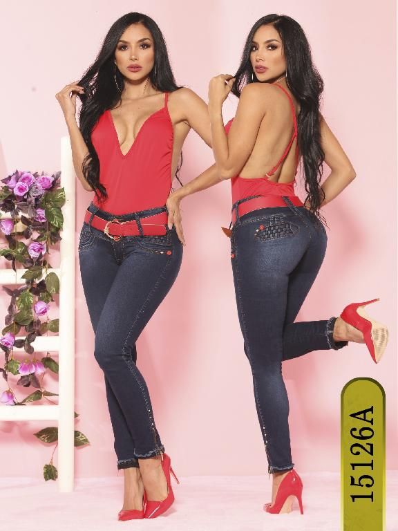 Jeans Levantacola Colombiano Ambar  - Ref. 234 -15126-A