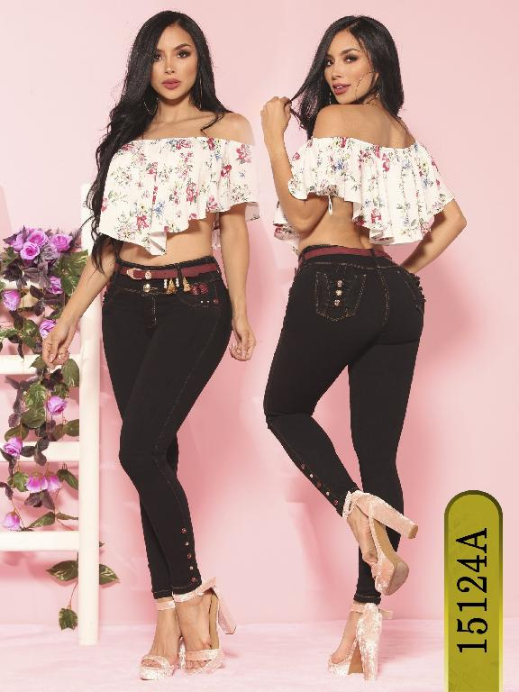 Jeans Levantacola Colombiano Ambar  - Ref. 234 -15124-A