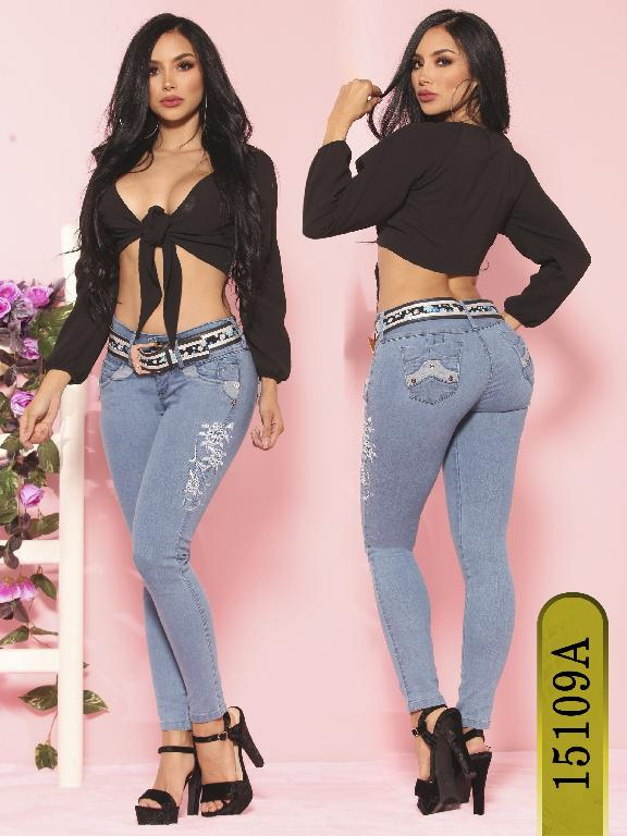 Jeans Levantacola Colombiano Ambar  - Ref. 234 -15109-A