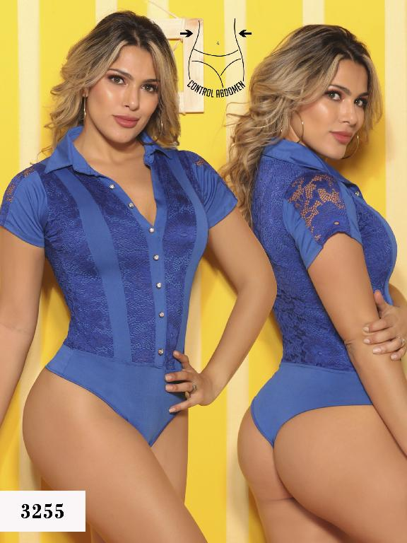 Body Reductor Colombiano Cereza - Ref. 111 -3255-5  Azul
