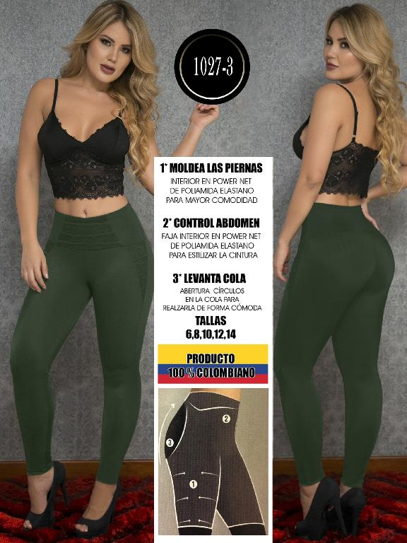 Leggings Levantacola Colombiano Thaxx - Ref. 119 -1027-3 Verde