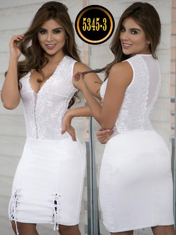 Vestido Moda  Colombiana Thaxx - Ref. 119 -5345-3 Blanco