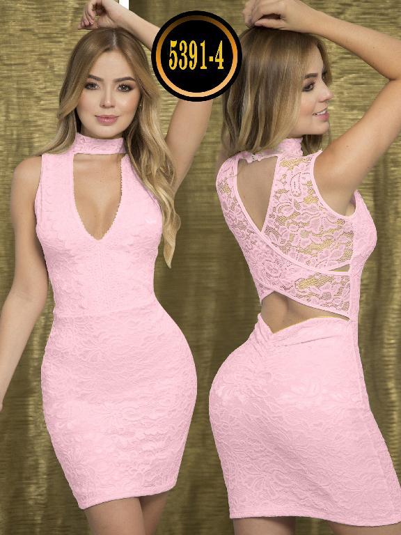 Vestido Moda  Colombiana Thaxx - Ref. 119 -5391-4 Rosado