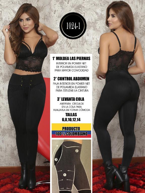 Colombian Butt Lifting Leggin - Ref. 103 -1024-1 Negro