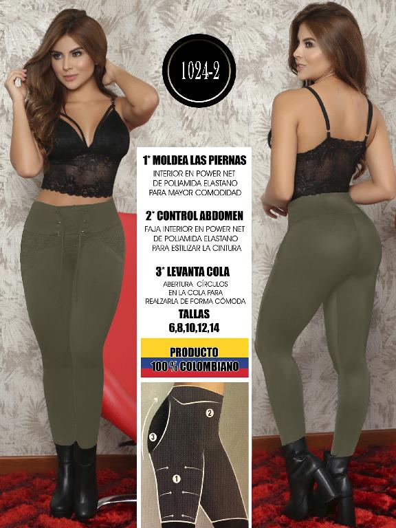 Colombian Butt Lifting Leggin - Ref. 119 -1024-2 Verde