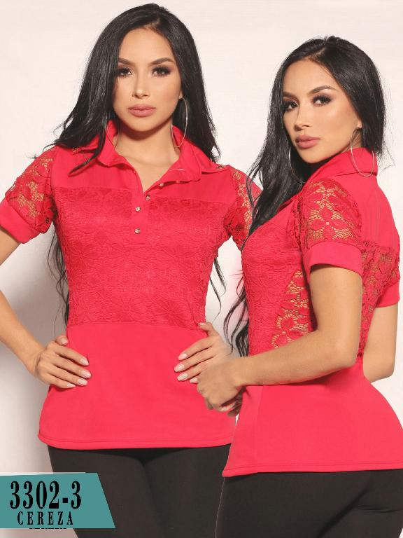Colombian fashion blouse - Ref. 111 -3302-3 Rojo