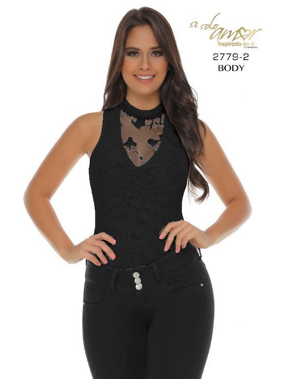 Body Moda Colombiana Solo Amor  - Ref. 246 -2779-2 SA Negro
