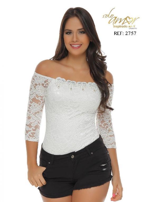 Body Moda Colombiana Solo Amor - Ref. 246 -2757-1 SA Blanco