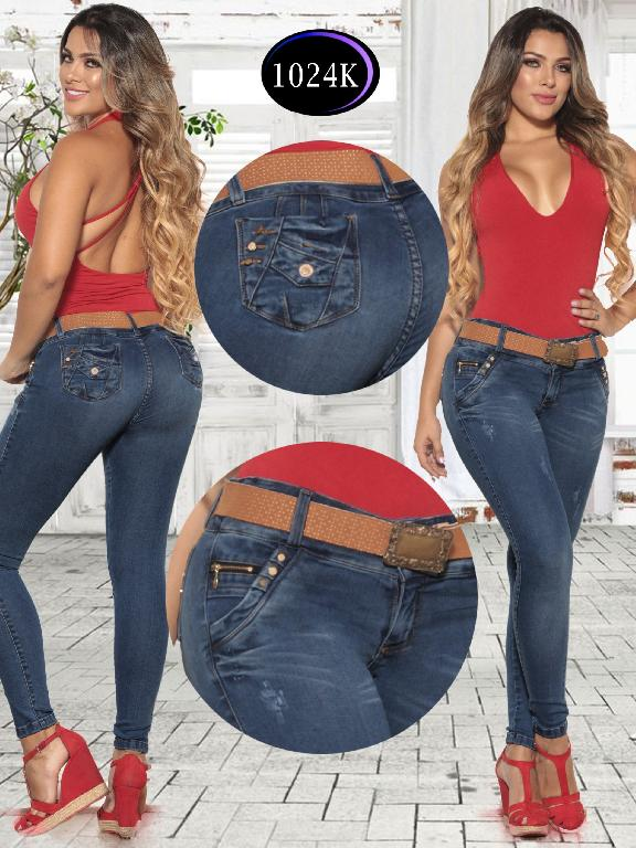 Jeans Levantacola Colombiano Knela  - Ref. 244 -1024K