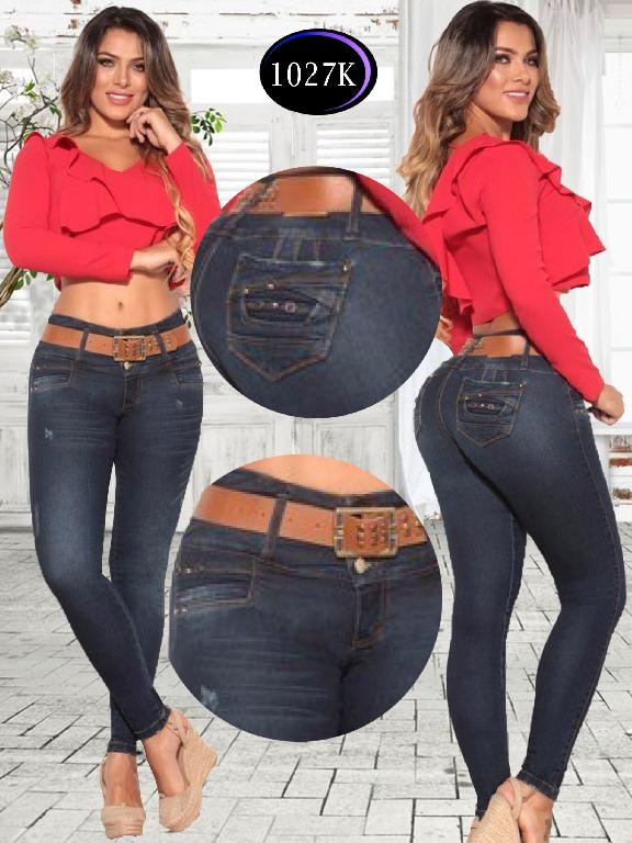 Jeans Levantacola Colombiano Knela - Ref. 244 -1027 K