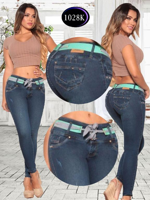 Jeans Levantacola Colombiano Knela - Ref. 244 -1028 K