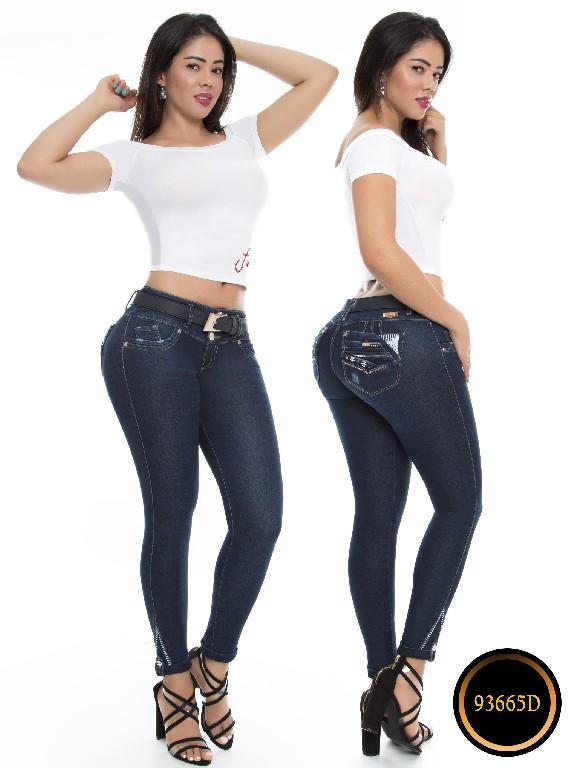 Jeans Levantacola Colombianos Ref 93665