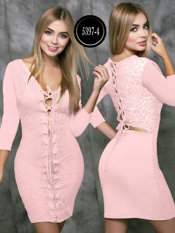 Colombian dress - Ref. 119 -5397-4 Rosado