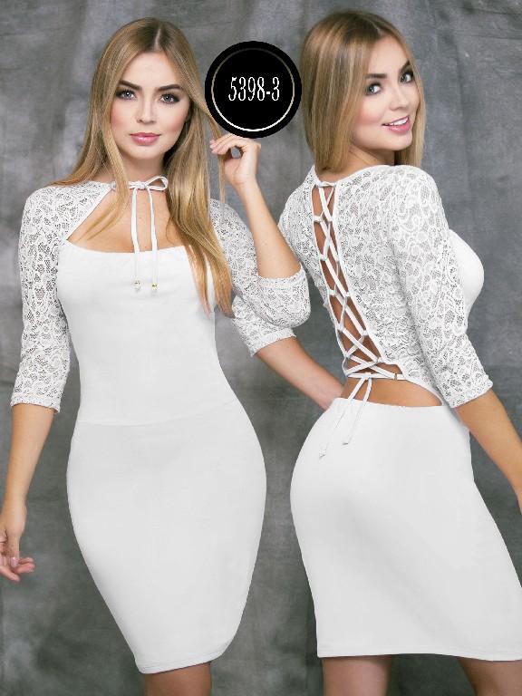 Colombian dress - Ref. 119 -5398-3 Blanco