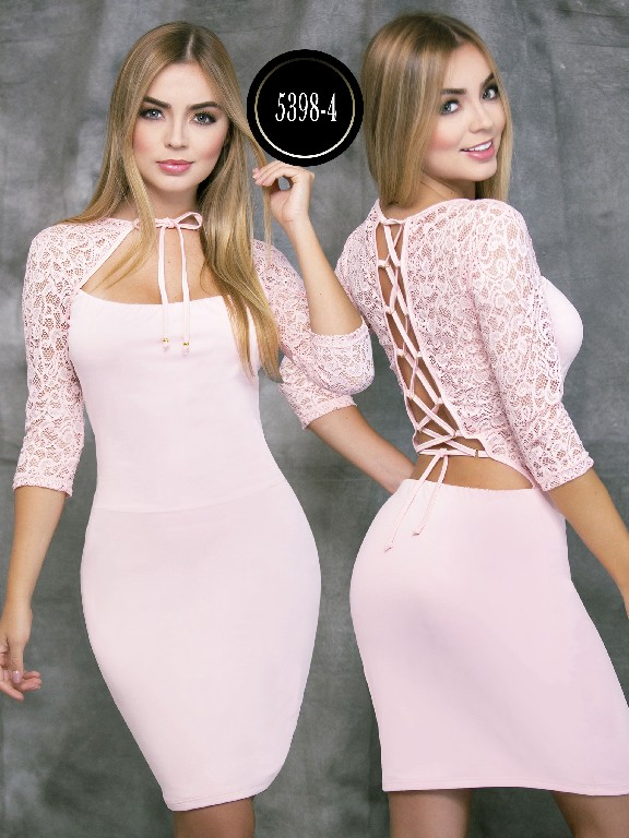 Colombian dress - Ref. 119 -5398-4 Rosado