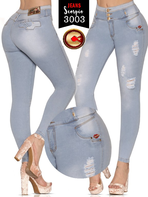 Jeans levantacola colombiano  - Ref. 255 -3003-S