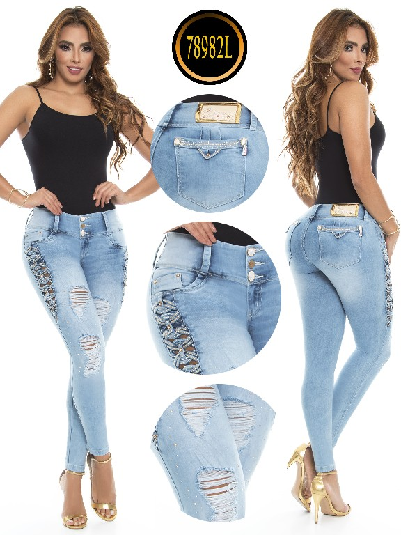 Jeans colombiano - Ref. 243 -78982-L Azul