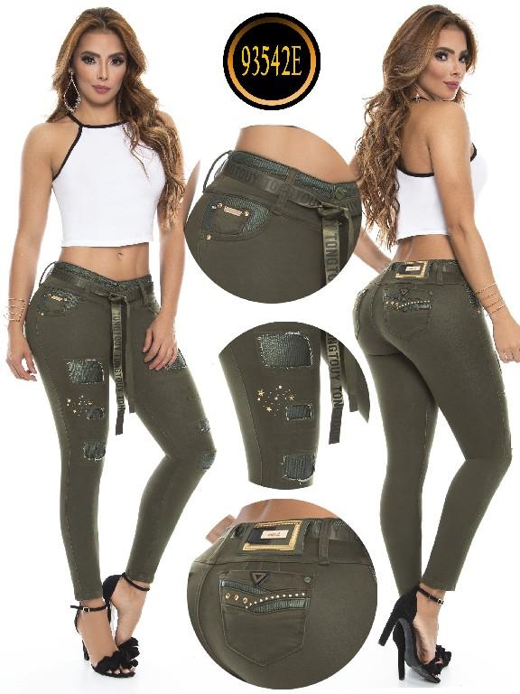 Jeans Levantacola Colombiano - Ref. 243 -93542-E Verde