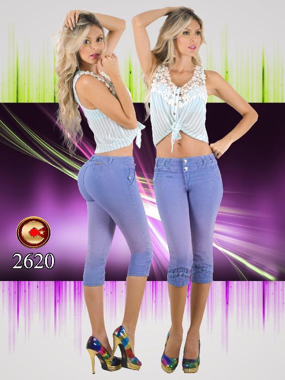 Jeans Levantacola Colombiano capellini  - Ref. 102 -2620