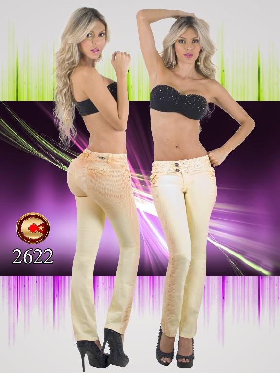 Colombian Butt Lifting Yellow Jeans capellini  - Ref. 102 -2622