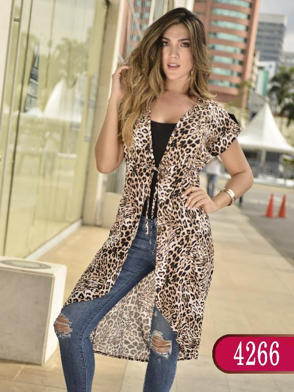 Blusa Colombiana - Ref. 252 -4266- Animal Print