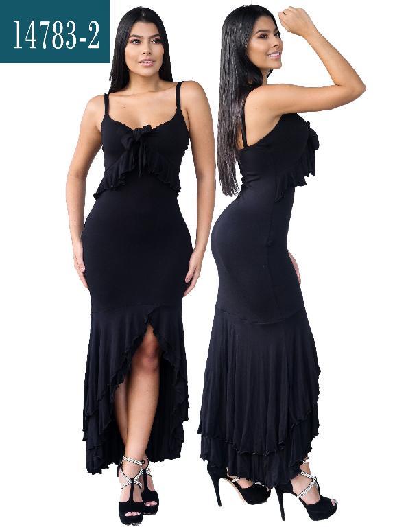 Vestido Colombiano - Ref. 112 -14783-Negro