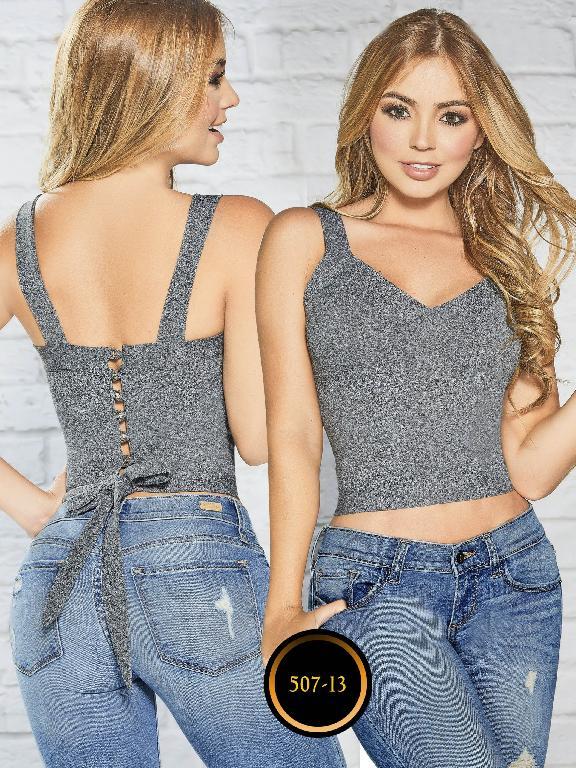 Blusas Colombianas - Ref. 268 -507-13 Gris