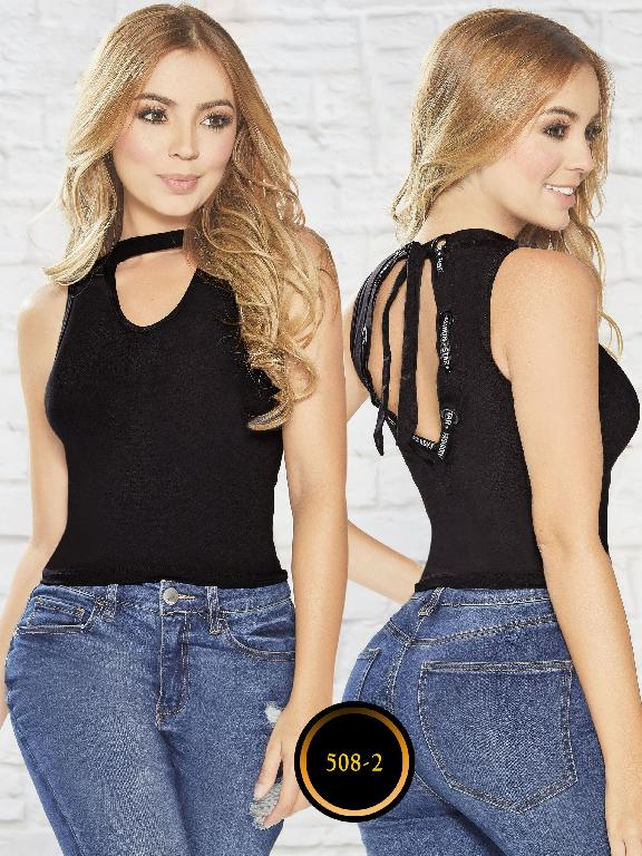 Blusa Colombiana - Ref. 268 -508-2 Negro