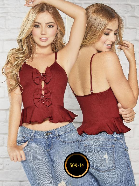 Colombian blouse - Ref. 268 -509-14 Vinotinto