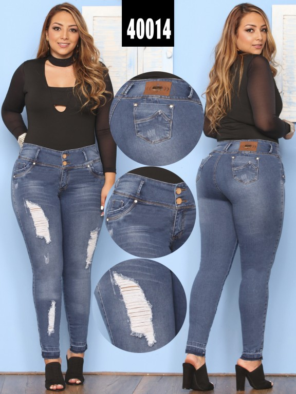 Jeans Plus Size Levantacola Colombiano  - Ref. 269 -40014 Plus Size
