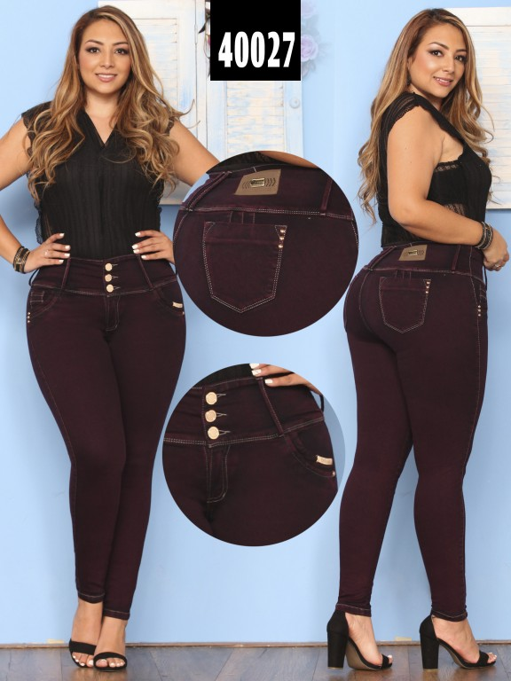 Jeans Plus Size Levantacola Colombiano  - Ref. 269 -40027 Plus Size